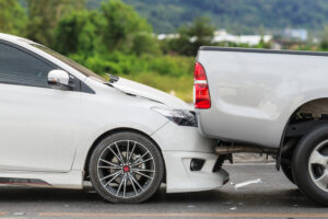 Car accident caused by a sudden stop