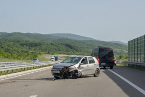 Unsafe lane change causes car accident