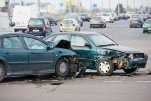 Accident caused by distracted driving